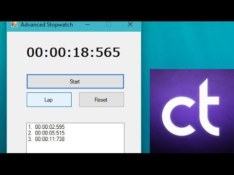 Visual Basic .NET Tutorial #8 – How to create an advanced stopwatch (w/ Laps)