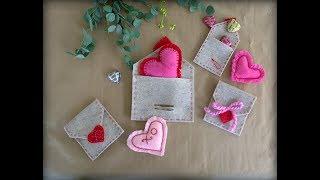 Felt Heart Envelopes.