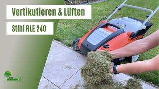 Stihl Vertikutierer - Lüfter | RLE 240 | Rasen lüften | sanftes Vertikutieren | perfekte Rasenpflege