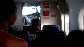 preview picture of video 'Flying In To Barbuda from Antigua on DHC-6-300 Win Air'