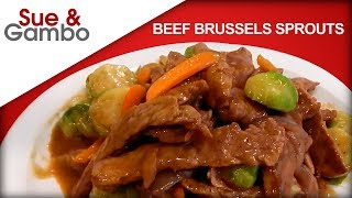 Beef Brussels Sprouts Stir Fry