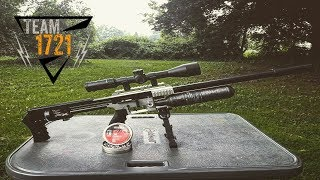 FX Crown  25 cal Plinking At 207 yards - hmong video