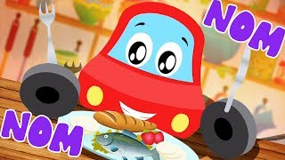I Love To Eat Meals | Little Red Car | Cartoon Songs For kids and Children