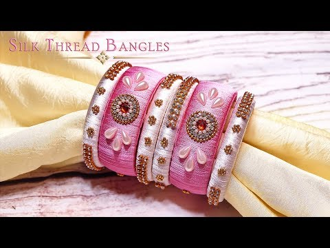 How To Make Very Easy Silk Thread Bangles | Latest Bangles New Designs