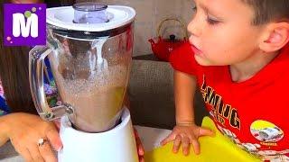 Шоколадный коктейль с печеньем делаем дома Chocolate coctail make at home