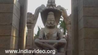Monolith of Lakshminarasimha at Hampi