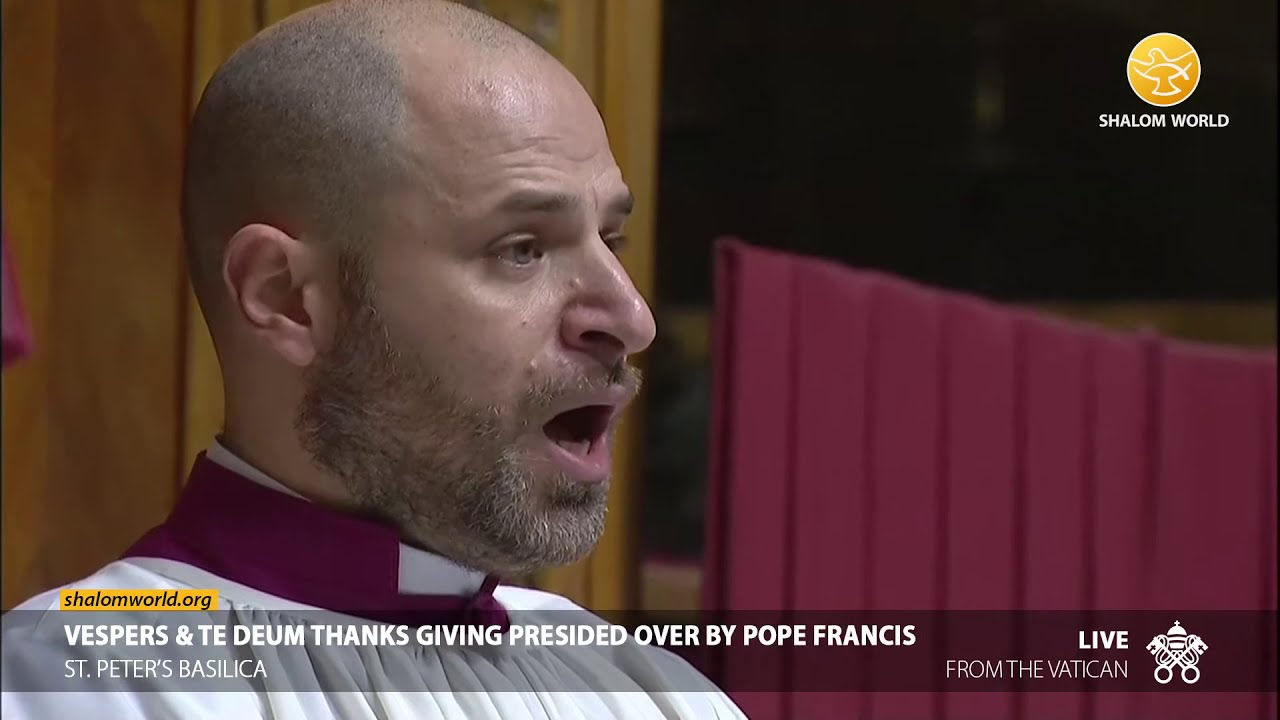 Vespers & Te Deum Thanksgiving 31st December 2020 Presided over by Pope Francis