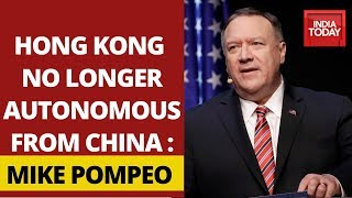 Mike Pompeo Says Hong Kong No Longer Autonomous, Slams China Intervention - Download this Video in MP3, M4A, WEBM, MP4, 3GP