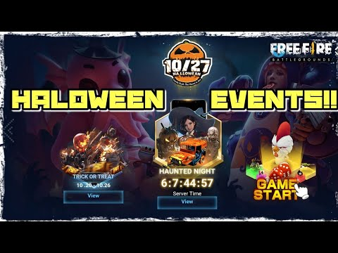 FREEFIFE BATTLEGROUNDS UPCOMING ALL EVENTS OF HALOWEEN EXPLAINED IN DETAIL!! GET READY FOR HALOWEEN