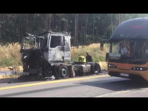 Wideo: Spłonęła ciężarówka