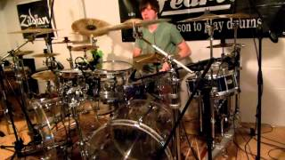 drum cover by chris jamison on the voice singing uptown funk