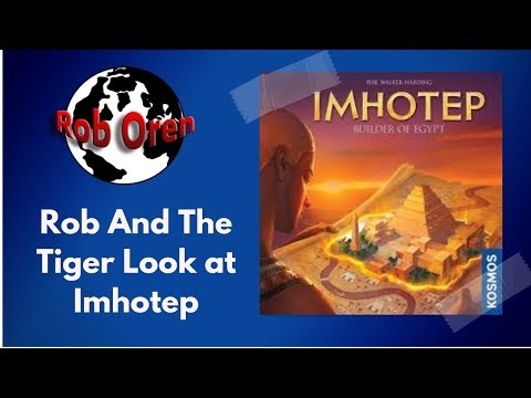 Rob and Tiger look at Imhotep