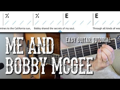 """Me and Bobby McGee"" Easy Guitar Tutorial 