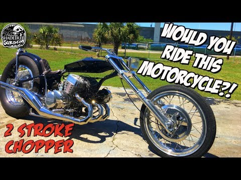 INSANE! Kawasaki H2 2 stroke Chopper (Would you ride this motorcycle?!?!)