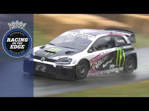 Petter Solberg demolishes wet Goodwood hill