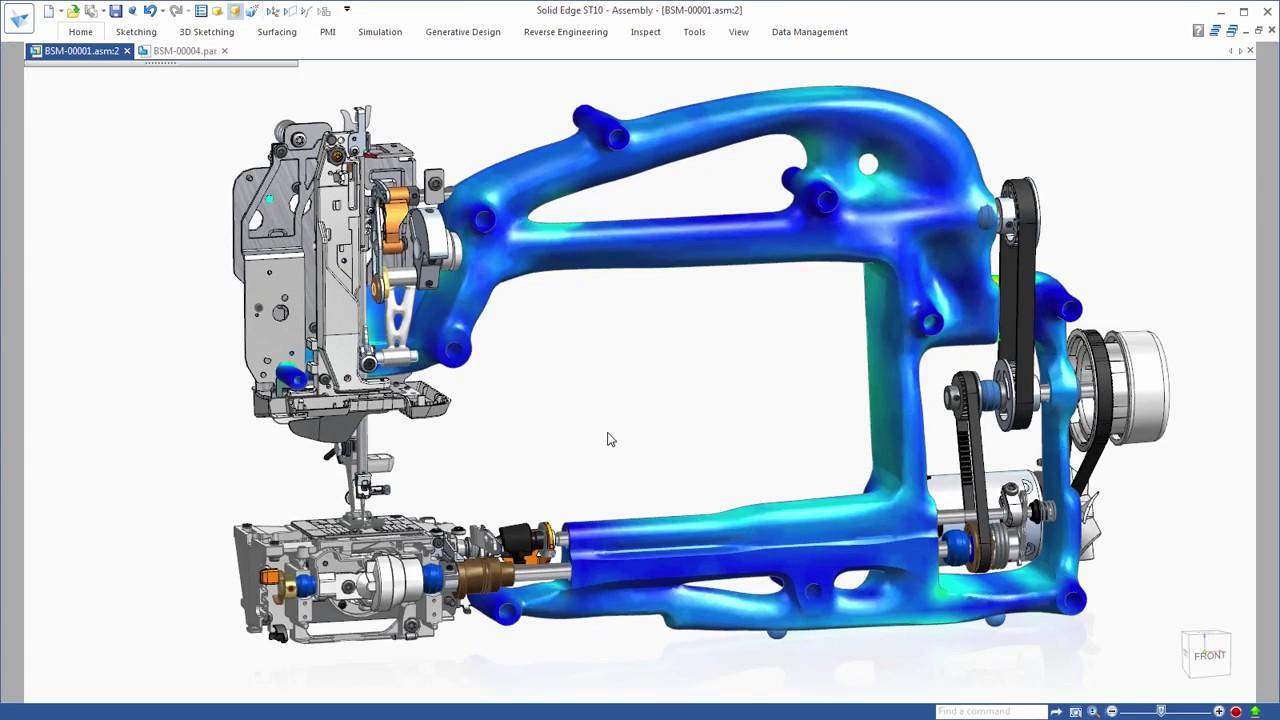 Vorschaubild: Solid Edge ST10: Festigkeit optimieren, Materialverbrauch reduzieren