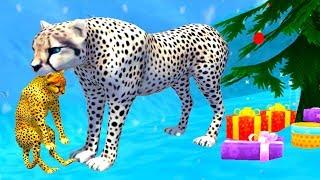 СИМУЛЯТОР ДИКОЙ КОШКИ #6 Родился котенок у гепарда /  Развлекательное видео для детей #ПУРУМЧАТА