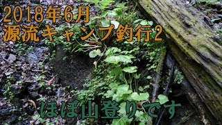 2018年6月源流キャンプ釣行2「空腹の登山編」