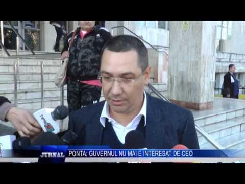 PONTA GUVERNUL NU MAI E INTERESAT DE CEO
