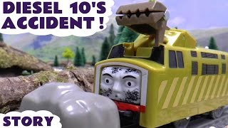 Thomas & Friends Diesel 10 Crash Accident Play Doh Diggin Rigs Rescue Story Episode Thomas Train