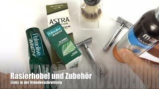 Rasierhobel Edwin Jagger und Mühle im Überblick mit Zubehör (deutsch)