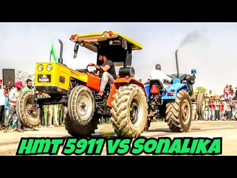 Sonalika tractor vs hmt 5911 tractor tochan Punjab Sidhu03