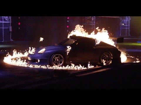 Flaming Porsche 911s in Super Slow-Mo | INFERNO | Top Gear Live 2014 Glasgow