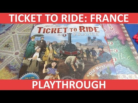 Ticket to Ride: France - Playthrough