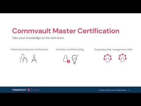 Commvault 2020 Master Certification Program - YouTube