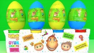 Kukuli Sürpriz Yumurta ve Kukuli Oyun hamuru açıyoruz Tinky Minky Kukili Oyun hamuru yazı yazıyoruz.