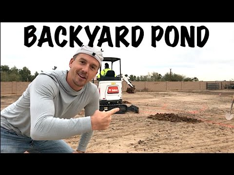 How to Build a BACKYARD Koi Fish POND, Part 1 - Amazing!!!