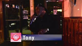 "Tony  singing ""Me and Mrs. Jones"" by the Dramatics"