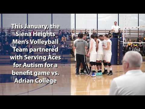 Serving Aces for Autism Men's Volleyball Game - Siena in 60