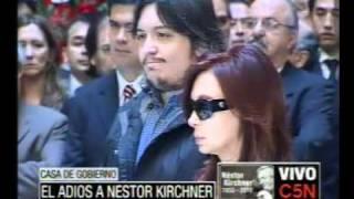 C5N  EL ADIOS A NESTOR KIRCHNER CRISTINA F KIRCHNER EN EL FUNERAL