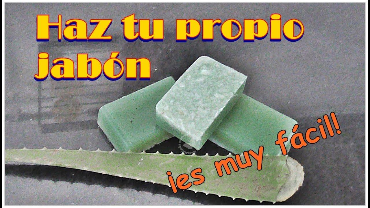 Jabón artesanal de Aloe Vera