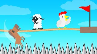 *IMPOSSIBLE* TIGHTROPE Vs RUNNER In Ultimate Chicken Horse!
