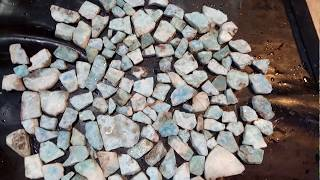 Larimar Slab Rough for Gemstone Making
