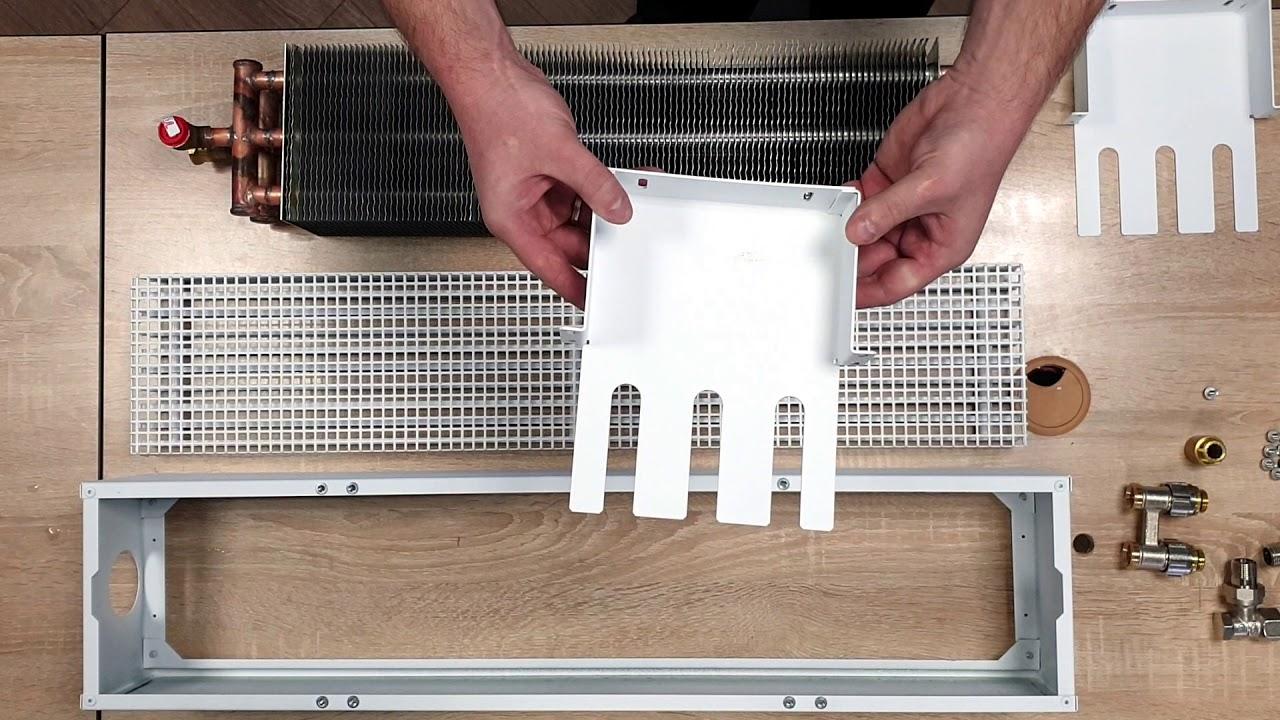Видеообзор напольных конвекторов TECHNO. Радиаторы отопления на пол.