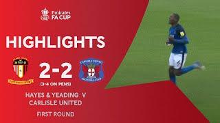 Extra-Time Thriller! | Hayes & Yeading 2-2 Carlisle United (3-4 on pens) | Emirates FA Cup 2020-21