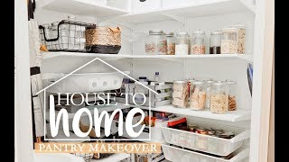 3 Essential Pantry Organization Tips + Laundry Room to Walk-In Pantry Makeover | House to Home