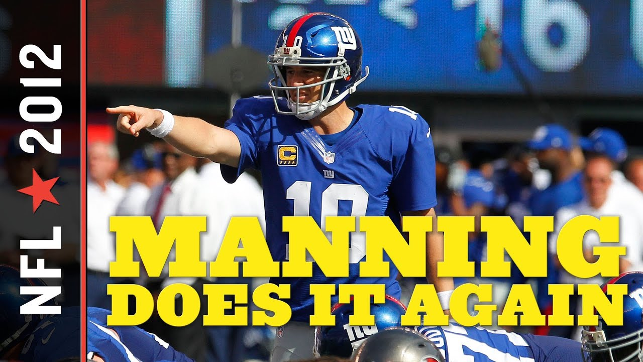 Buccaneers vs. Giants 2012: Eli Manning Overcomes Shaky 1st Half, Throws 510 Yards in Wild 41-34 Win thumbnail