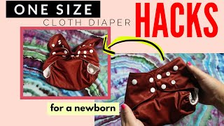 One Size Coth Diaper Hacks on a Newborn