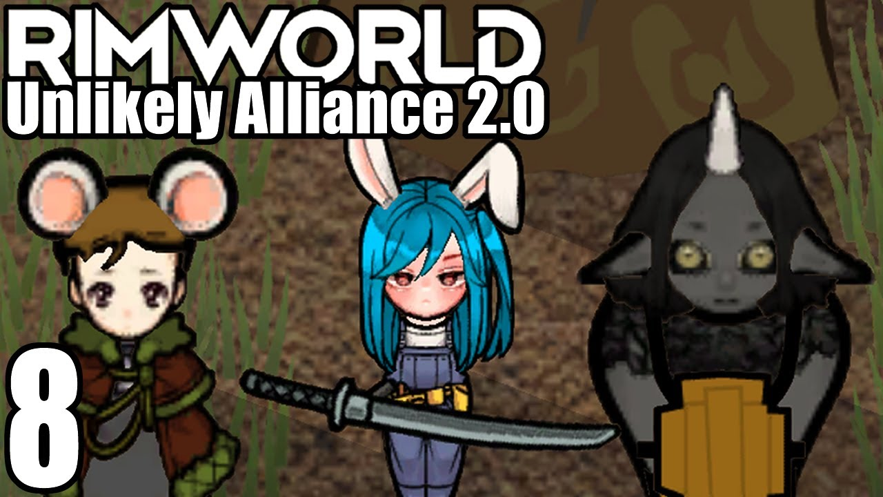 Let's Play Rimworld: Unlikely Alliance 2.0 #8 - Great Wall of Weeb