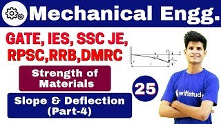 1:00 PM - Mechanical by Neeraj Sir   Day #25   Strength of Materials  Slope and Deflection Part-3