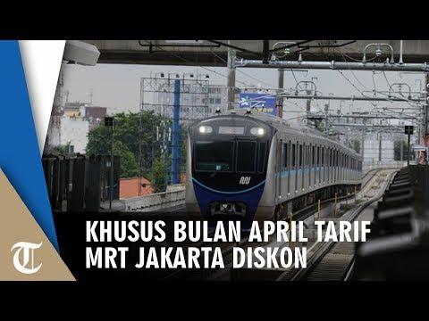 Khusus Bulan April Tarif MRT Jakarta Diskon 50 Persen