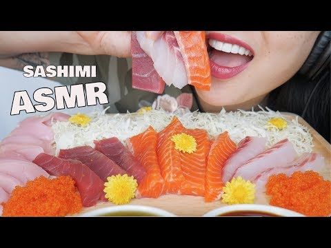 ASMR LAST SASHIMI PLATTER FROM JAPAN (EATING SOUNDS) NO TALKING | SAS-ASMR