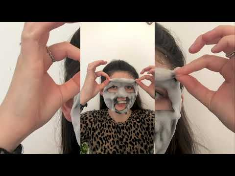 DETOXIFYING Bubbling Cleansing Sheet Mask with Activated Charcoal