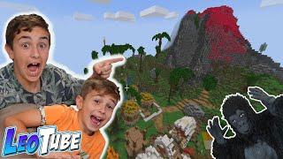 Villa Volcan en Minecraft con Leo y Mikel
