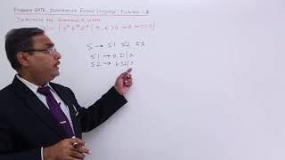 Formal Language - GATE Exercise 3