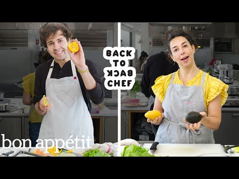 Download David Dobrik Tries to Keep Up with a Professional Chef | Back-to-Back Chef | Bon Appétit Mp4 HD Video and MP3